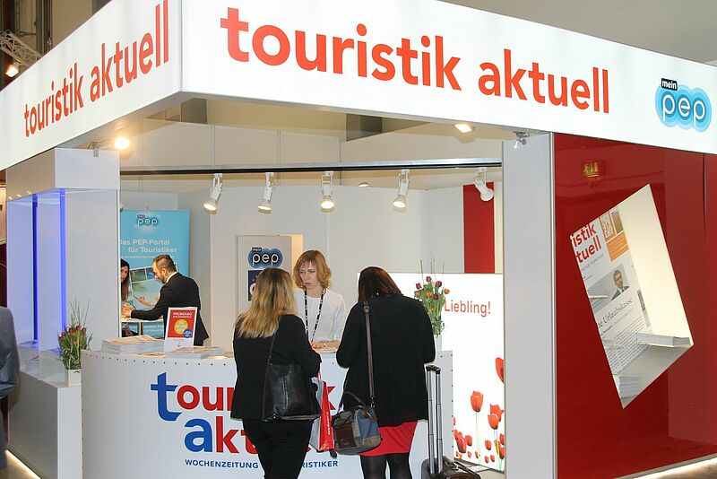 Traditionell hat touristik aktuell seinen ITB-Stand in Halle 25