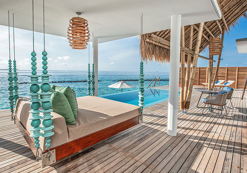 Das neue Emerald Maldives Resort & Spa hat 120 Villen. Modell: Emerald Maldives