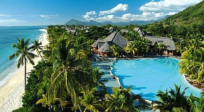 Das Dinarobin Beachcomber Resort in Le Morne auf Mauritius