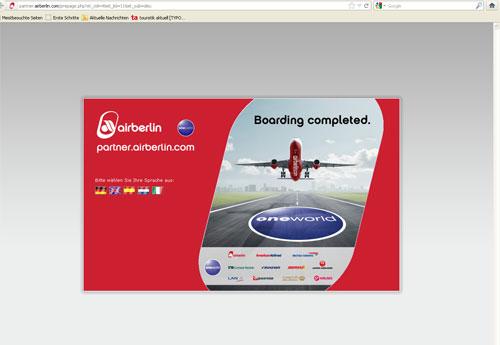 Air Berlin will die Probleme mit Partnerseiten beim Nutzen des
